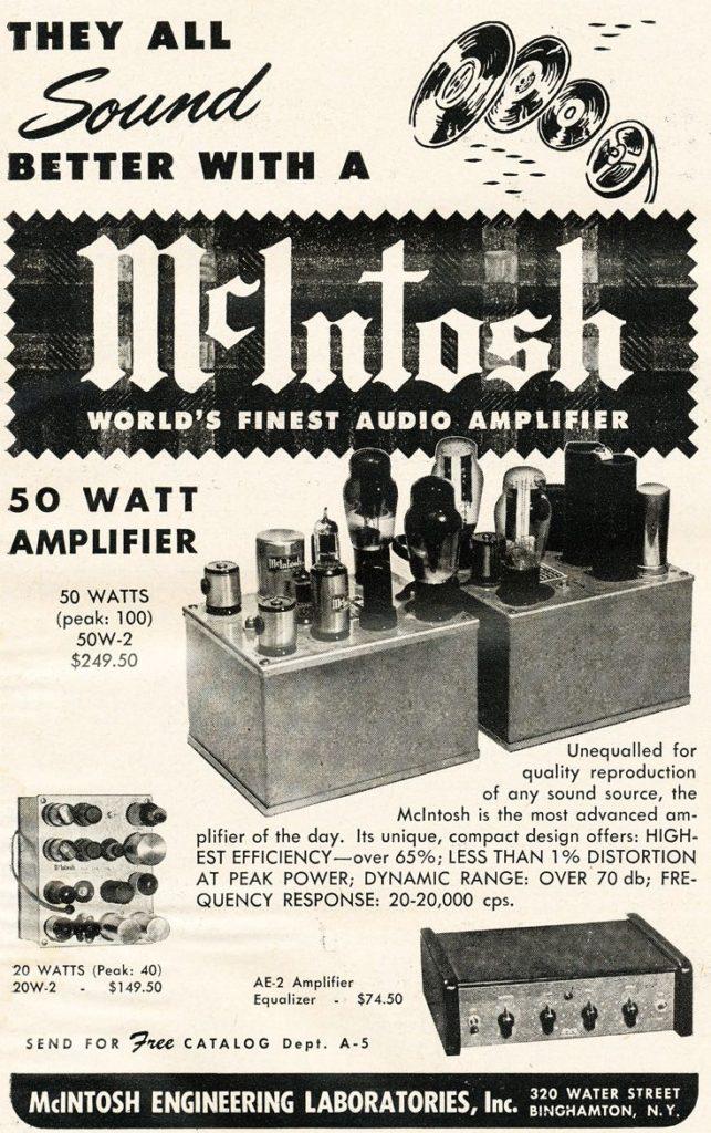 McIntosh 50W-2, McIntosh 20W-2, McIntosh AE-2